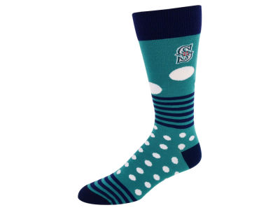 Seattle Mariners Dots and Stripes Sock