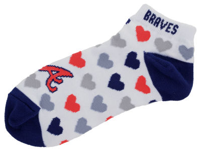 Atlanta Braves For Bare Feet Lady Heart Logo Repeat Sock
