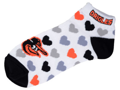 Baltimore Orioles Lady Heart Logo Repeat Sock