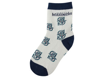 Seattle Mariners All Over Toddler Socks