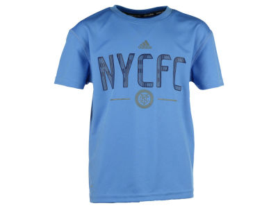 New York City FC adidas MLS Kids Team and Logo Climalite T-Shirt