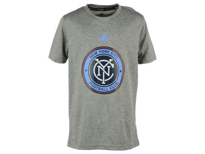 New York City FC adidas MLS Youth Primary Logo Climalite T-Shirt