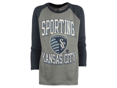 Sporting Kansas City adidas MLS Youth Run the Field Long Sleeve T-Shirt