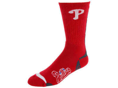 Philadelphia Phillies For Bare Feet Team Vortex Crew Sock
