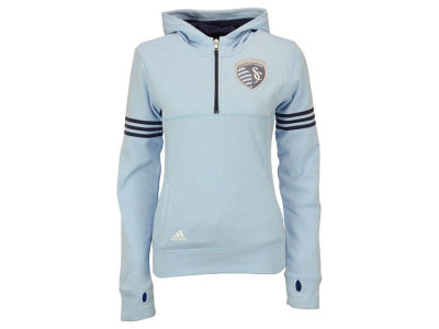 Sporting Kansas City adidas MLS Girls Goalie Girl Half Zip Hoodie