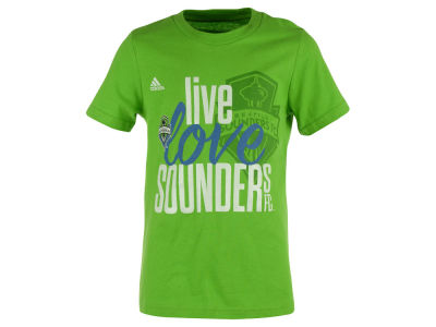 Seattle Sounders FC adidas MLS Girls Live Love Team T-Shirt
