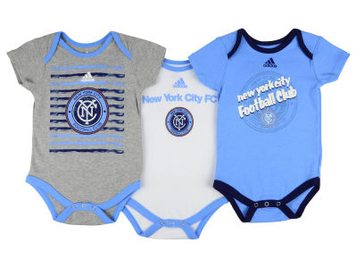 New York City FC adidas MLS Newborn 3 Goals Bodysuit Set