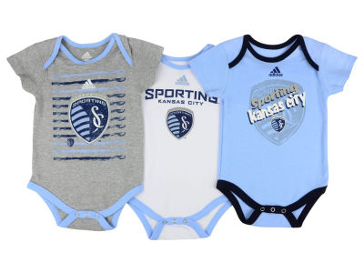 Sporting Kansas City adidas MLS Newborn 3 Goals Bodysuit Set
