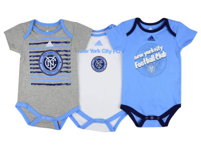 New York City FC adidas MLS Infant 3 Goals Bodysuit Set