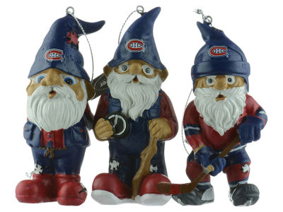 Montreal Canadiens NHL 3 Pack Gnome Ornament Set