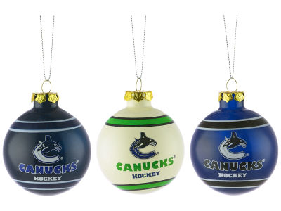 Vancouver Canucks NHL 3 Pack G-Ball Ornaments