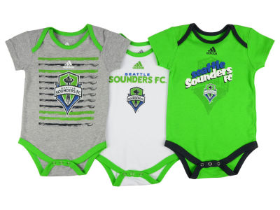 Seattle Sounders FC adidas MLS Infant 3 Goals Bodysuit Set