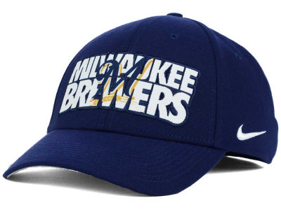 Milwaukee Brewers Nike MLB Verbiage Logo Cap