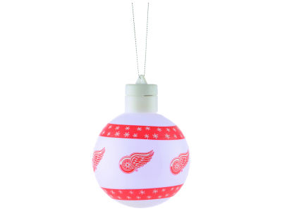Detroit Red Wings Light Up Ball Ornament JC