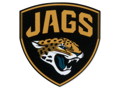 Jacksonville Jaguars SHIELD 4x4 Die Cut Decal Color