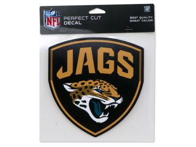 Jacksonville Jaguars SHIELD Die Cut Color Decal 8in X 8in