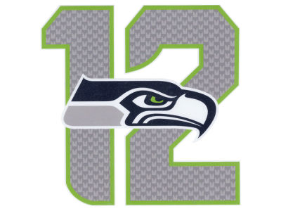 Seattle Seahawks #12  Die Cut Color Decal 8in X 8in