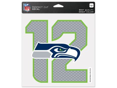 Seattle Seahawks #12  4x4 Die Cut Decal Color
