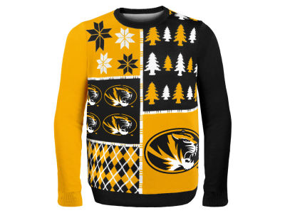 Missouri Tigers La Tilda NCAA Men's Busy Block Ugly Sweater