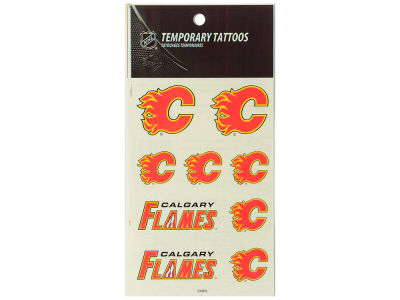 Calgary Flames Tattoo Sheet