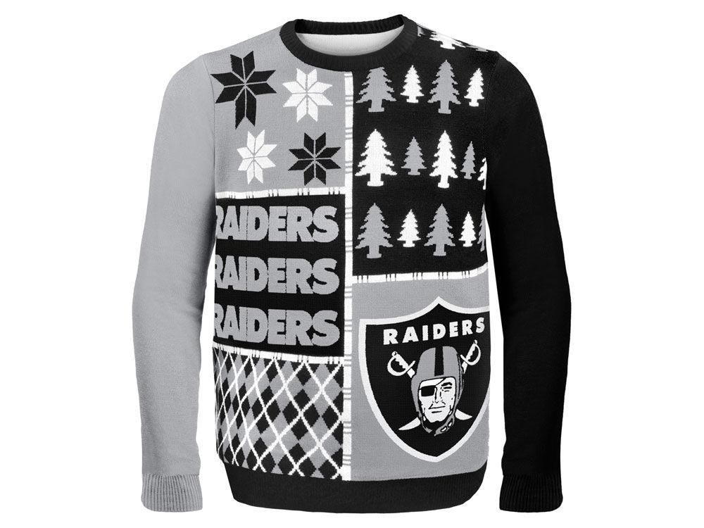 Oakland Raiders Nfl Mens Busy Block Ugly Sweater Lidsca