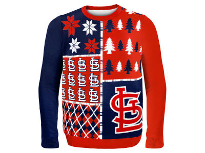 St. Louis Cardinals La Tilda MLB Men's Busy Block Ugly Sweater