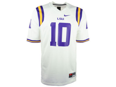 LSU Tigers #10 Nike NCAA Replica Football Game Jersey