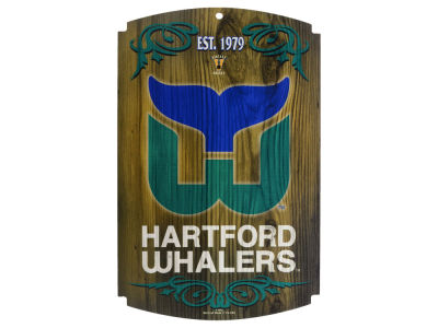 Hartford Whalers 11x17 Wood Sign
