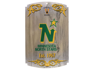 Minnesota North Stars 11x17 Wood Sign