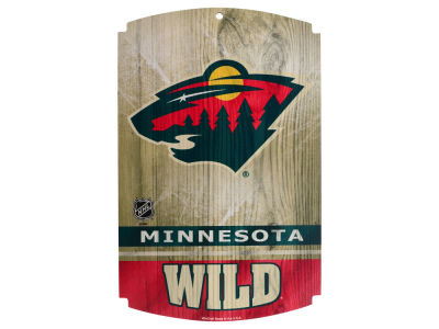 Minnesota Wild 11x17 Wood Sign