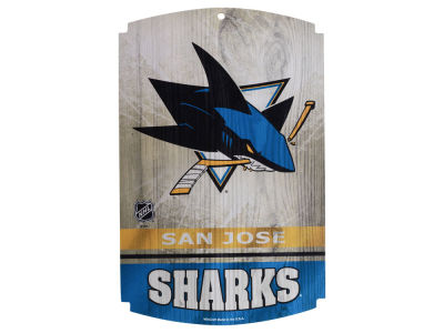 San Jose Sharks 11x17 Wood Sign