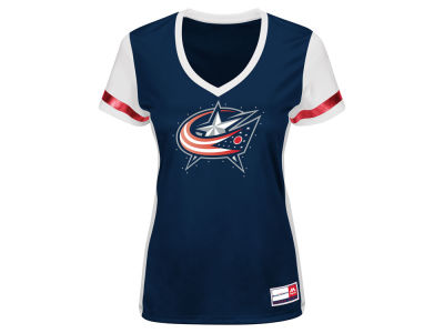 Columbus Blue Jackets NHL Women's Synthetic Fashion Shirt