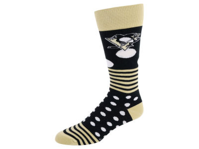 Pittsburgh Penguins Dots and Stripes Sock