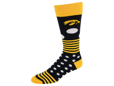 Iowa Hawkeyes Dots and Stripes Sock
