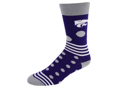 Kansas State Wildcats Dots and Stripes Sock