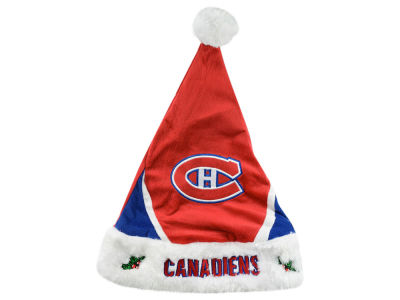 Montreal Canadiens Color Block Santa Hat