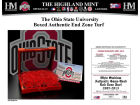 Ohio State Buckeyes Highland Mint 7x7 Turf Box Red Collectibles
