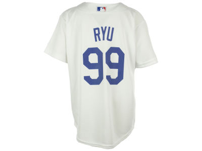 Los Angeles Dodgers Hyun-jin Ryu Majestic MLB Youth Player Replica Cool Base Jersey