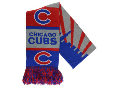 Chicago Cubs Acrylic Knit Scarf Skyline