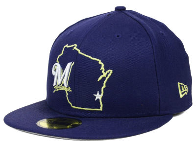 Milwaukee Brewers New Era MLB States 59FIFTY Cap