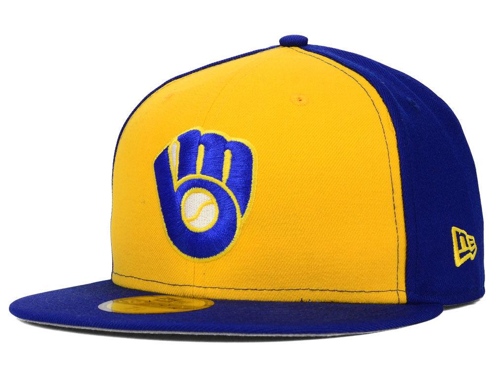 d4dd13029103a4 Milwaukee Brewers New Era MLB Cooperstown 59FIFTY Cap | lids.com