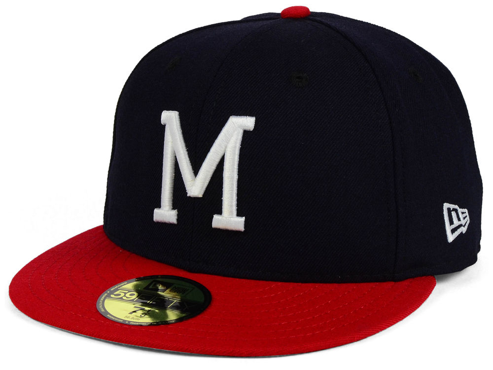 Milwaukee Braves New Era MLB Cooperstown 59FIFTY Cap  d0abe3d6f42