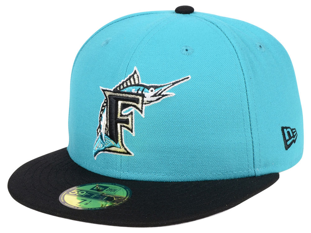 Florida Marlins New Era MLB Cooperstown 59FIFTY Cap  7be67e3beb4b