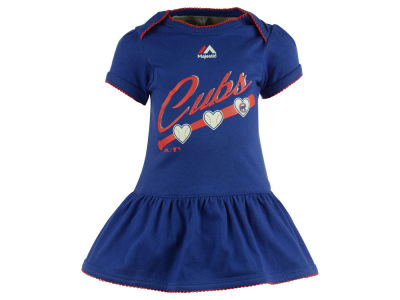 Chicago Cubs MLB Newborn Girls Onesie Dress
