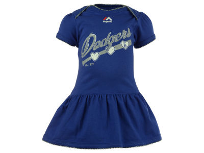 Los Angeles Dodgers MLB Newborn Girls Onesie Dress