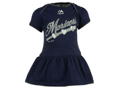 Seattle Mariners MLB Newborn Girls Onesie Dress