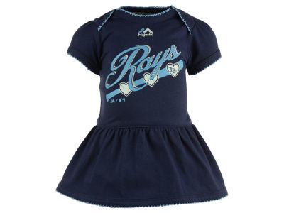 Tampa Bay Rays MLB Newborn Girls Onesie Dress
