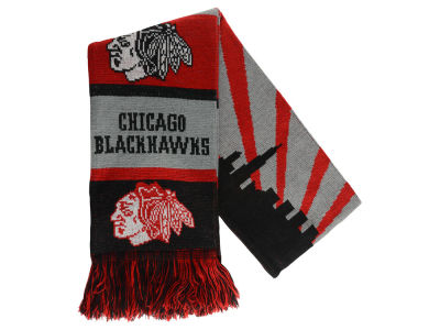 Chicago Blackhawks Acrylic Knit Scarf Skyline