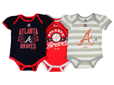 Atlanta Braves MLB Newborn Girls TP Bodysuit Set