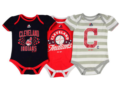 Cleveland Indians MLB Newborn Girls Bodysuit Set
